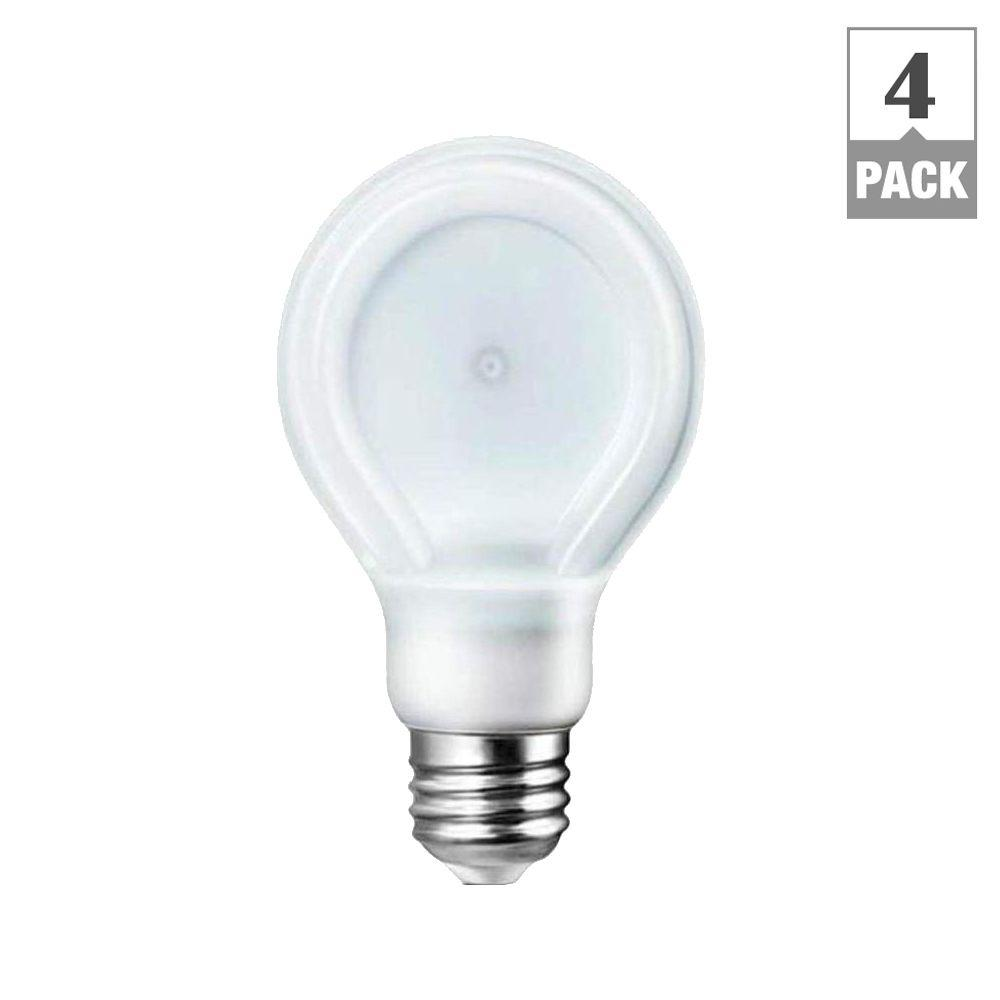 Philips SlimStyle 60W Equivalent Daylight (5000K) A19 Dimmable LED Light Bulbs (4-Pack)