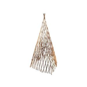 14 inch W x 48 inch H Classic Willow Expandable Trellis Teepee by