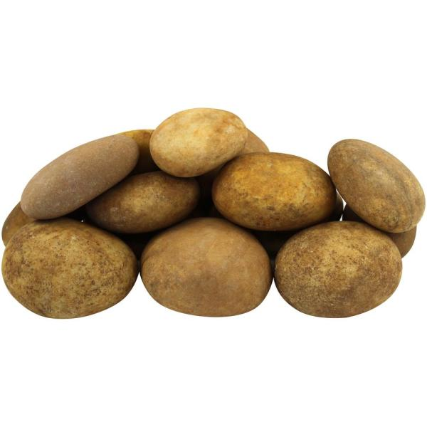 12.0 cu. ft. 1 in. to 3 in. 900 lbs. Royal Tan Pebbles