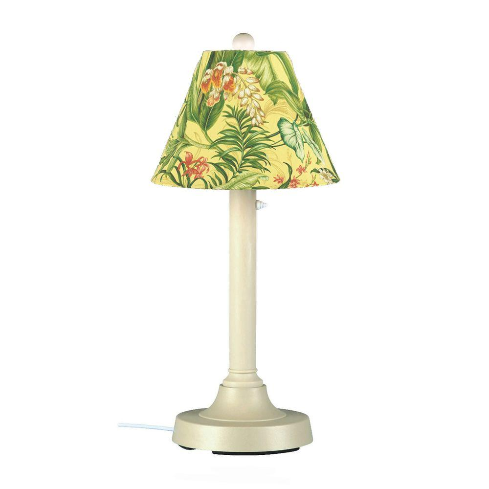 Patio Living Concepts San Juan 30 in. Outdoor Bisque Table Lamp with Soleil Shade
