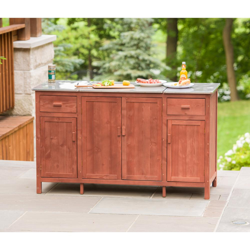 Leisure Season 60 In Patio Buffet Server With Cooler
