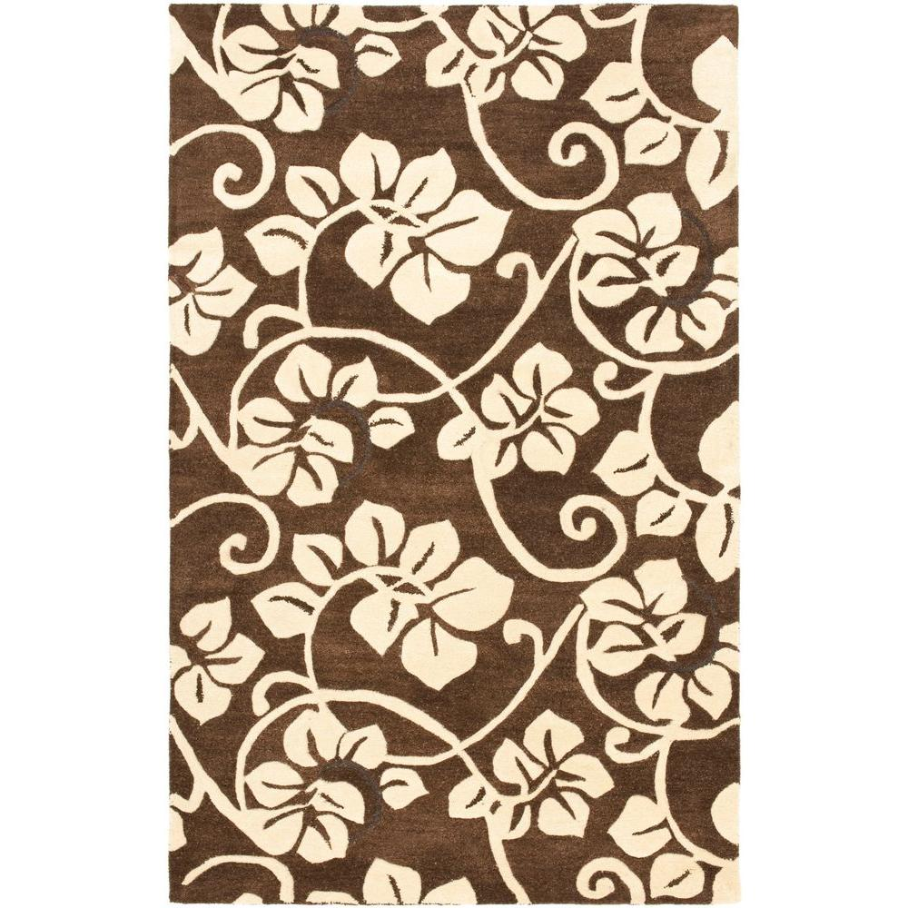 Soho Brown/Ivory 3.5 ft. x 5.5 ft. Area Rug
