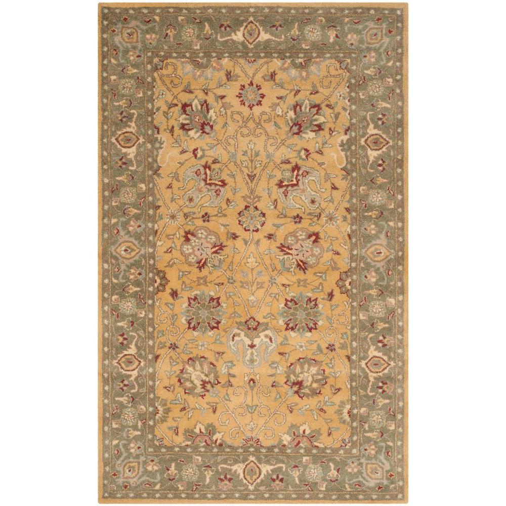 safavieh antiquity gold 5 ft x 8 ft area rug at21c 5. Black Bedroom Furniture Sets. Home Design Ideas