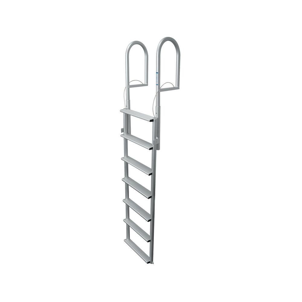 Tommy Docks 7 Rung Step Wide Lifting Aluminum Ladder