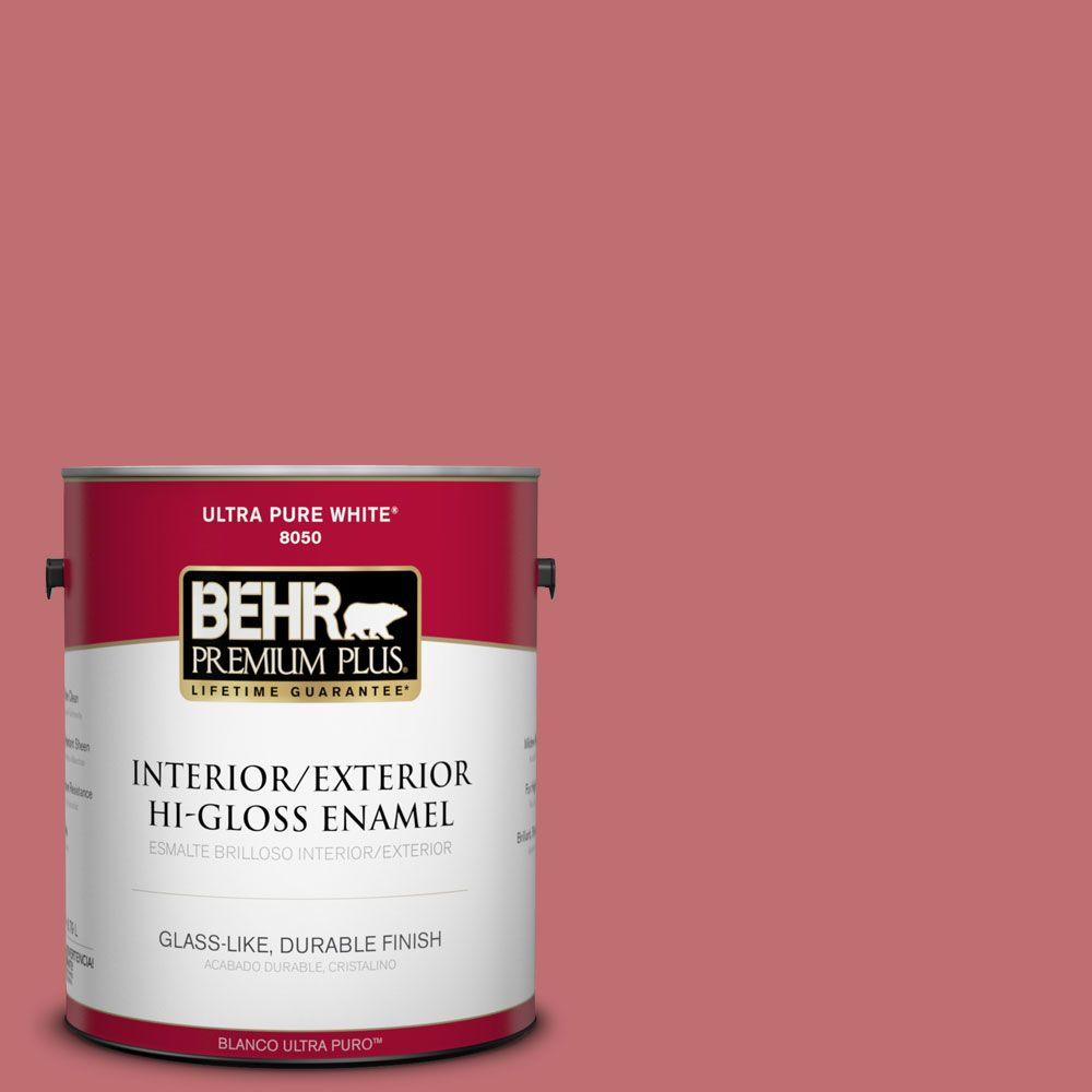1-gal. #HDC-SP14-8 Art House Pink Hi-Gloss Enamel Interior/Exterior Paint