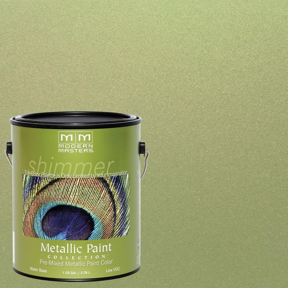 1 gal. Sage Water-Based Satin Metallic Interior/Exterior Paint