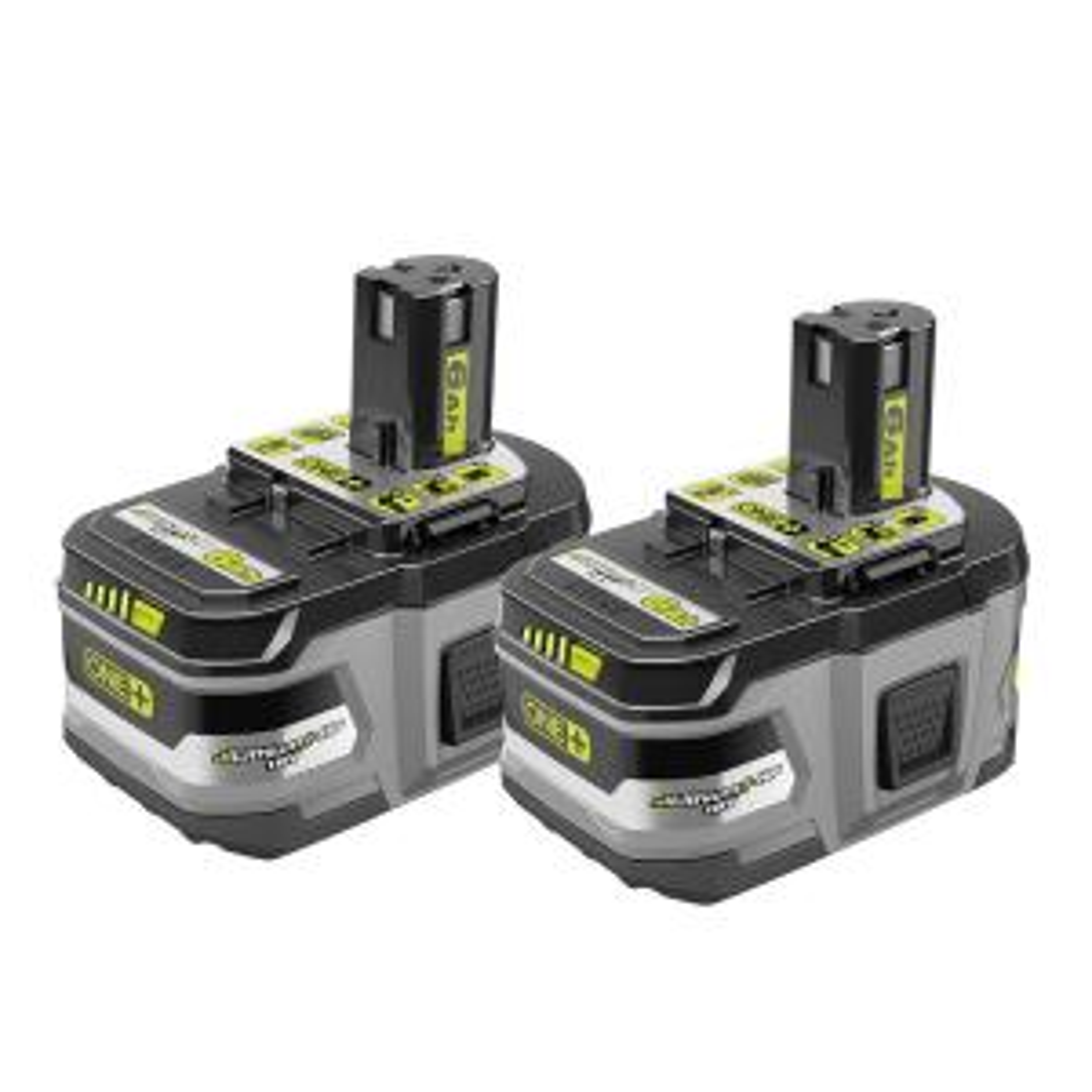 2-PK Ryobi 18-Volt ONE 6.0Ah Lithium HP Battery