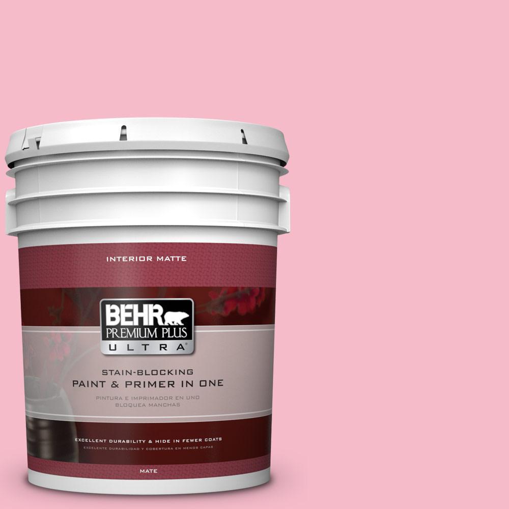 5 gal. #120C-2 Pink Punch Flat/Matte Interior Paint