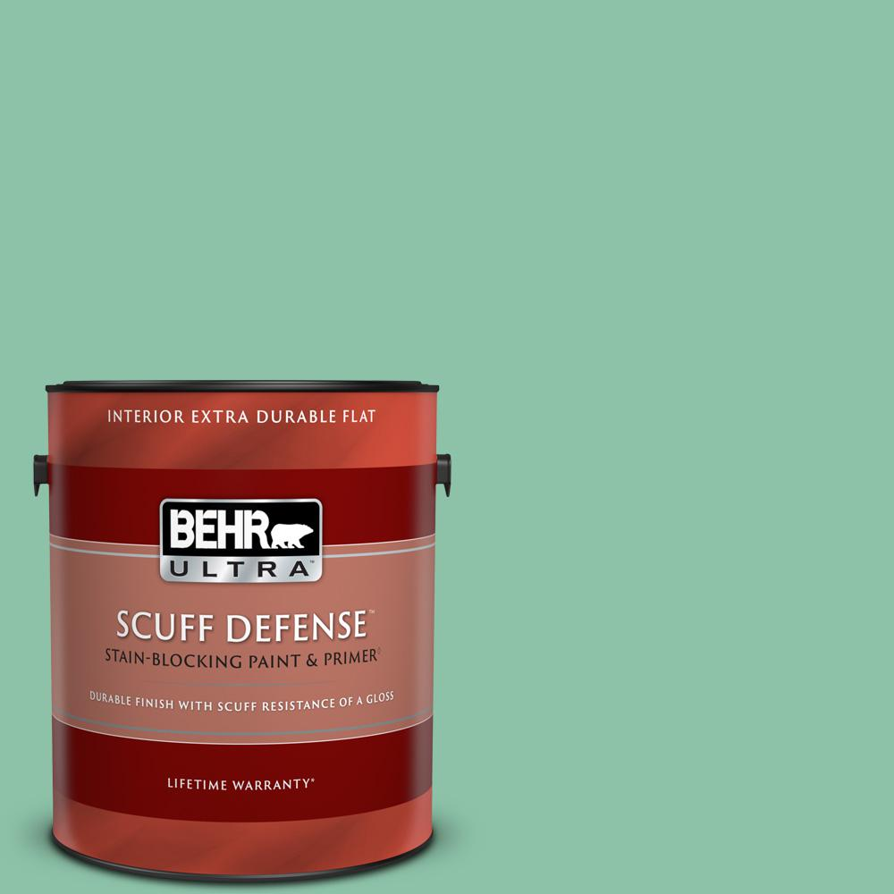 Behr Ultra 1 Gal Home Decorators Collection Hdc Wr14 8 Spearmint Frosting Extra Durable Flat Interior Paint And Primer 172401 The Home Depot
