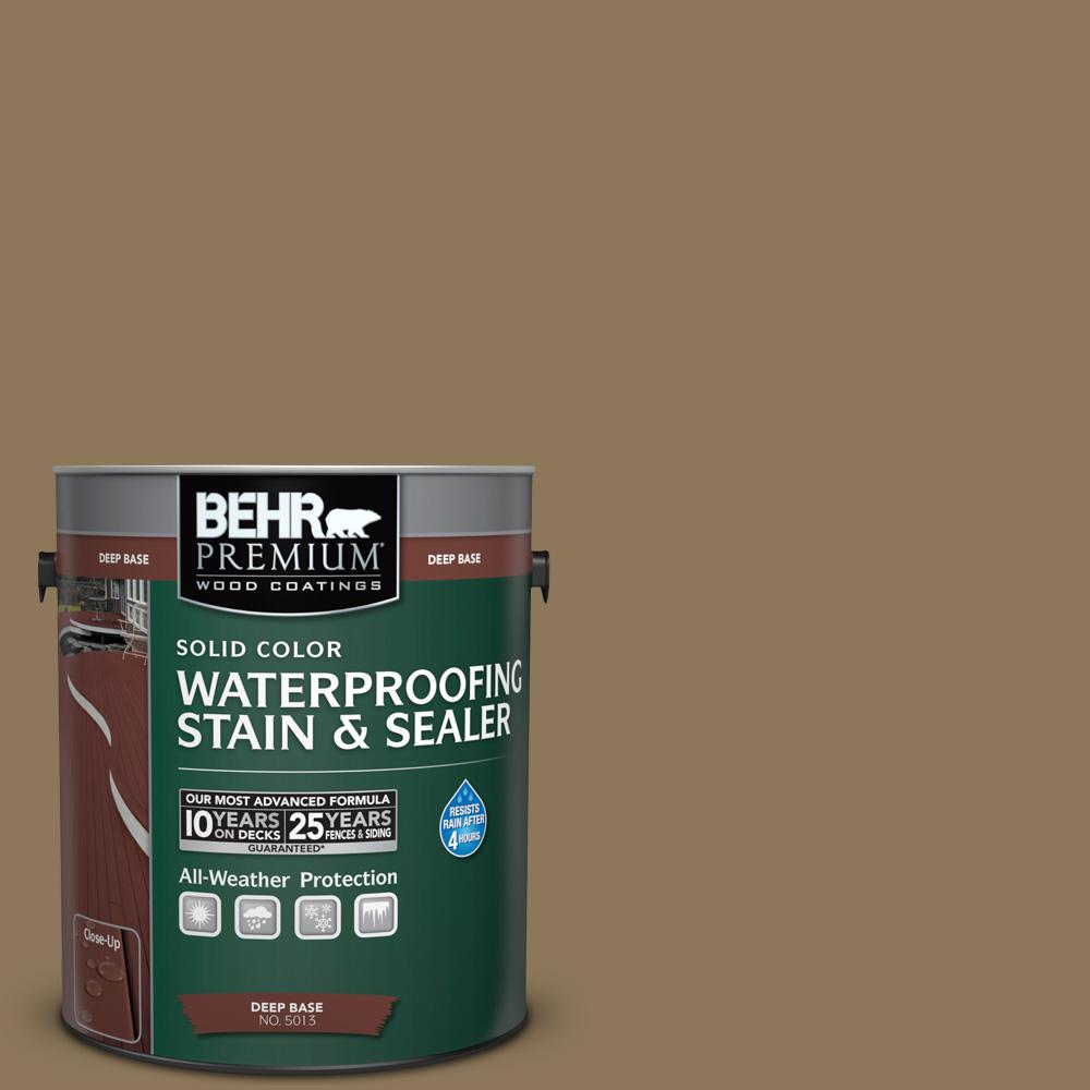 BEHR Premium 1 gal. #SC-153 Taupe Solid Color Waterproofing Exterior ...