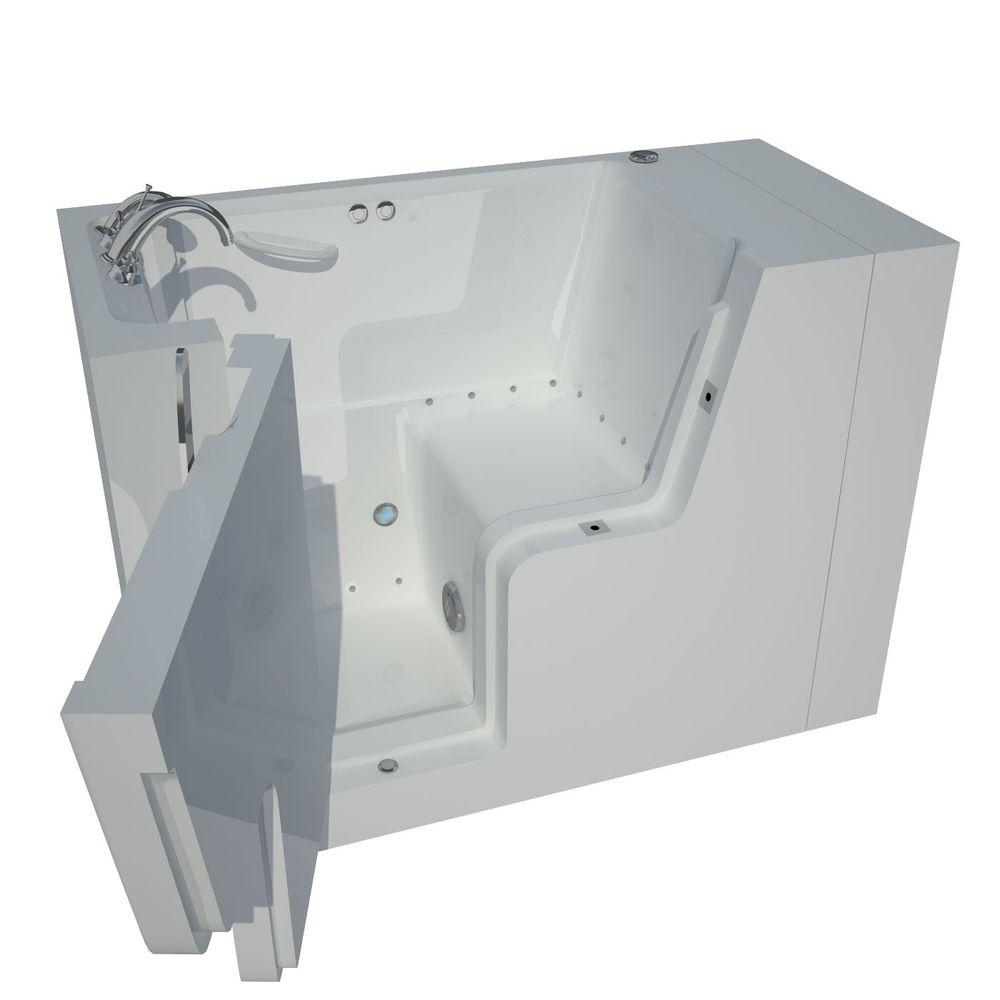 Universal Tubs Nova Heated Wheelchair Accessible 4.5 ft. Walk-In Air Jetted Tub in White with Chrome Trim
