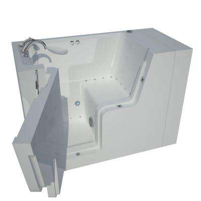 Nova Heated Wheelchair Accessible 4.5 ft. Walk-In Air Jetted Tub in White with Chrome Trim