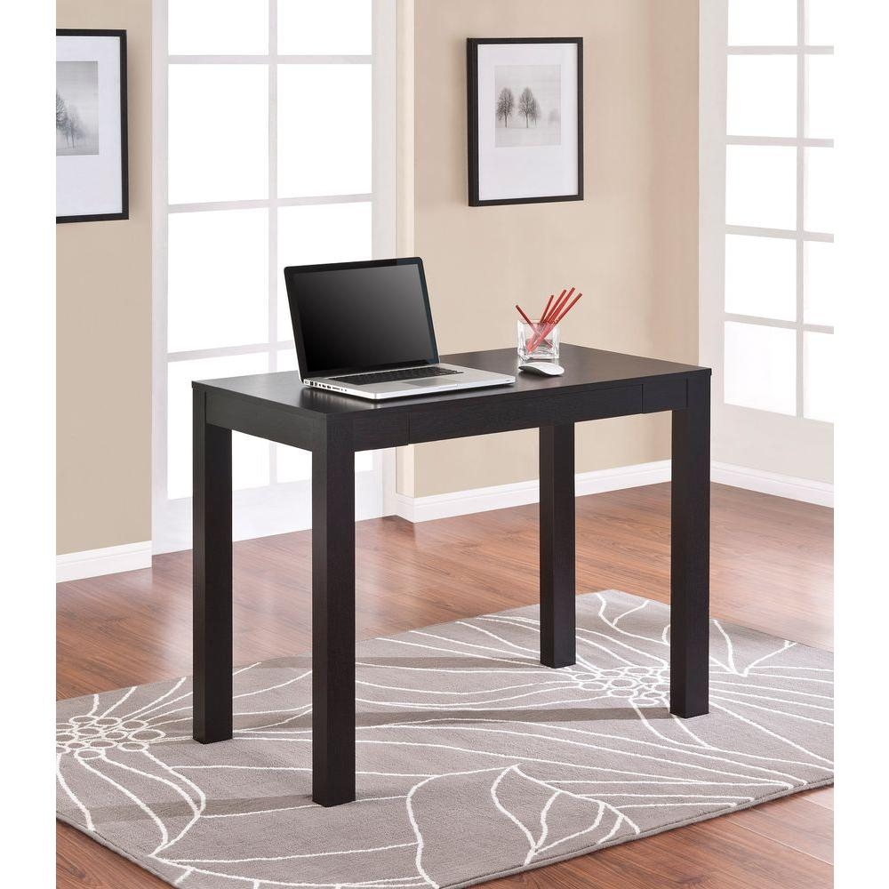 altra furniture parsons desk with drawer in black oak