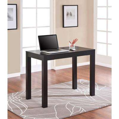 Parsons Desk with Drawer in Black Oak