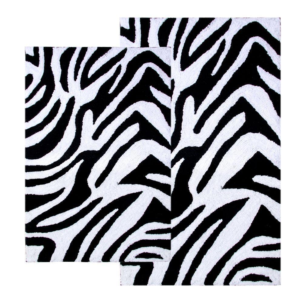 Zebra Bath Rug Home Decorating Ideas