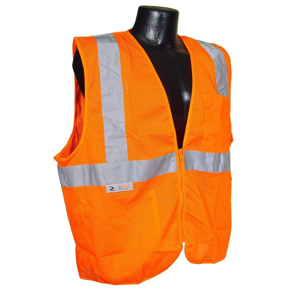 Fire Retardant Orange Mesh Large Safety Vest