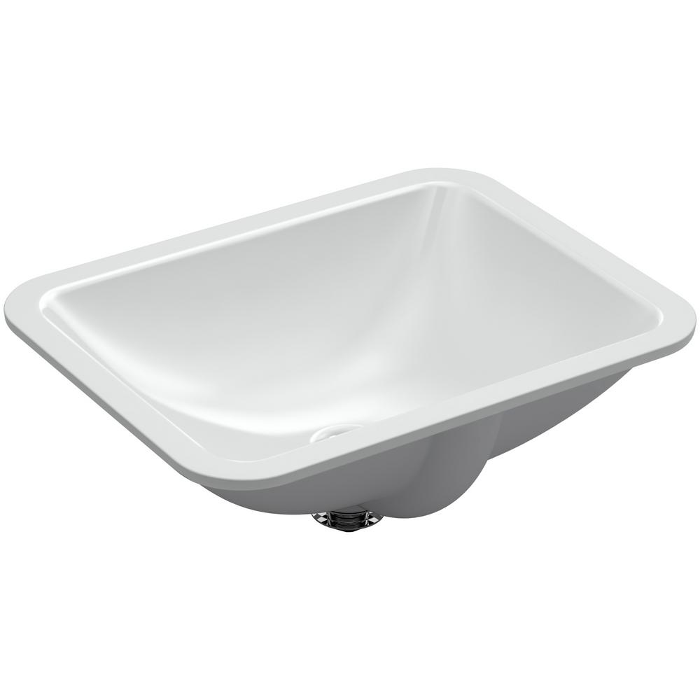 Kohler Caxton Rectangle Undermount Bathroom Sink In Ice Grey K 20000 95 The Home Depot