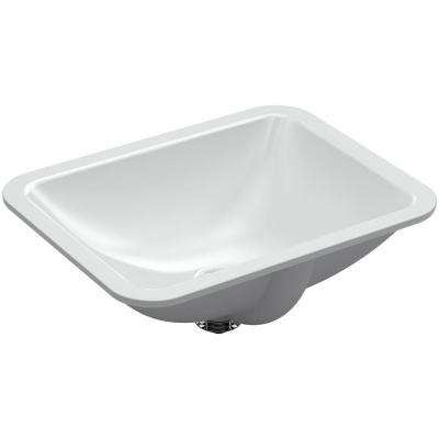 Caxton Rectangle Undermount Bathroom Sink in Ice Grey