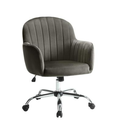 Madery Contemporary Brown Velvet Office Chair