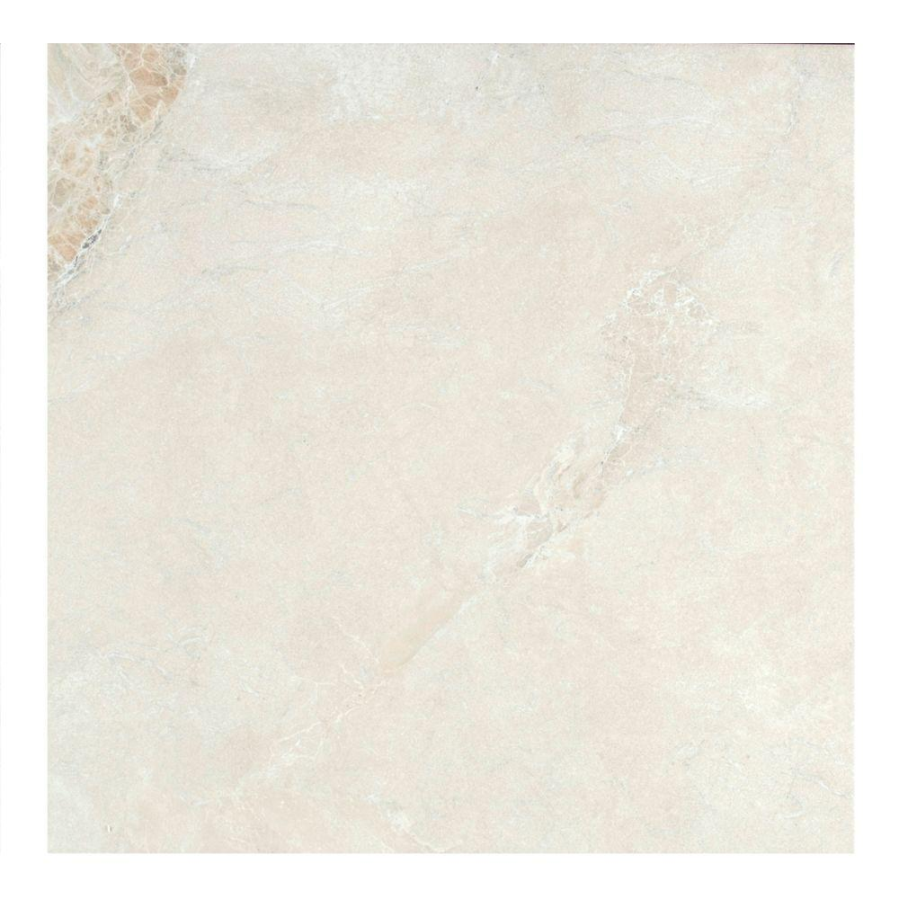 MONO SERRA Yukon Ivory 22.4 in. x 22.4 in. Stoneware Floor and Wall Tile (10.55 sq. ft. / case)