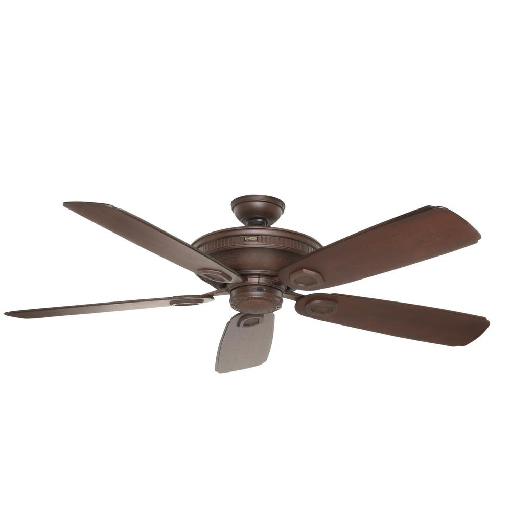 Hampton Bay Ashburton 60 In Indoor Tarnished Bronze Ceiling Fan Wiring A And Light To One Switch Outdoor Brushed Cocoa