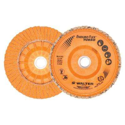 ENDURO-FLEX Turbo 5 in. x 7/8 in. Arbor GR36/60 Blending Flap Disc (10-Pack)