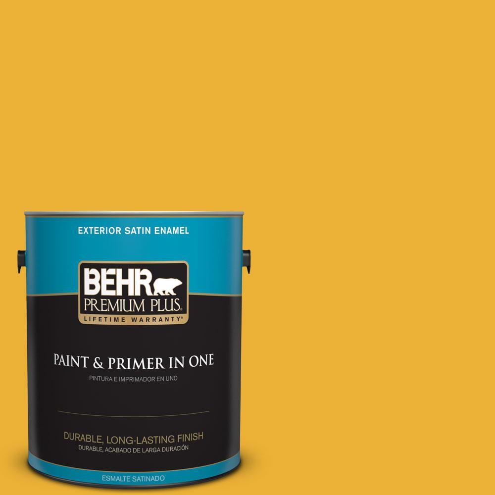 1-gal. #P280-7 Midsummer Gold Satin Enamel Exterior Paint