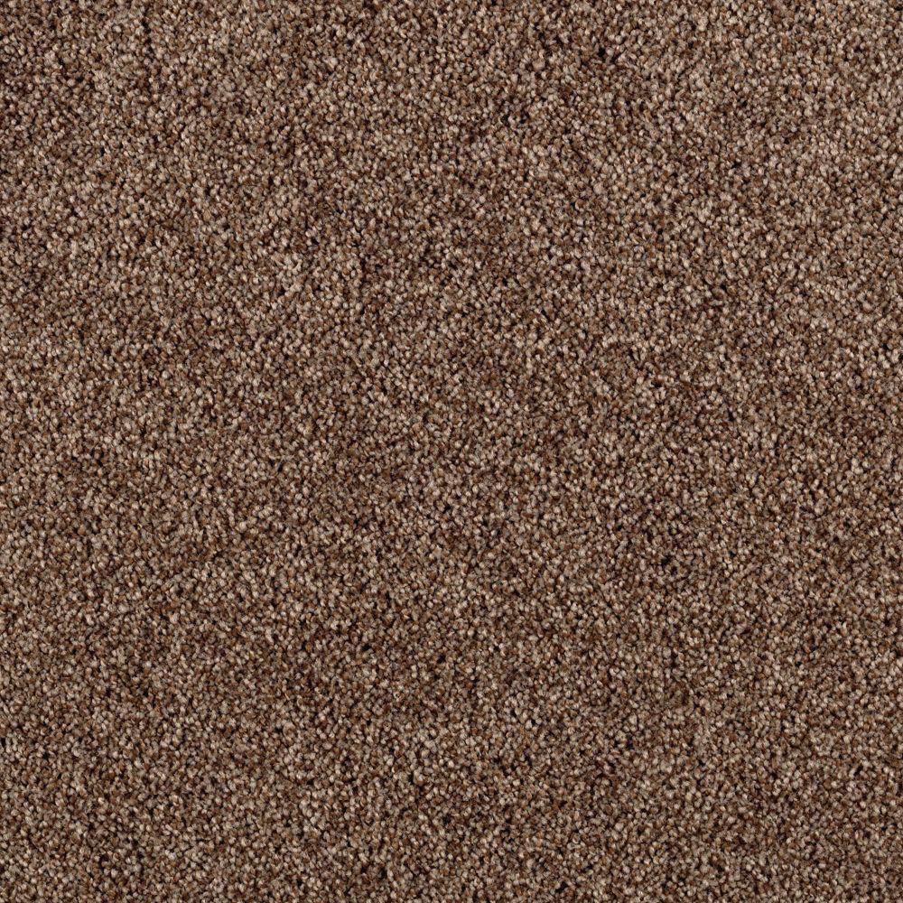Carpet Sample - Horsepower II - Color Native Soil Twist 8 in. x 8 in.