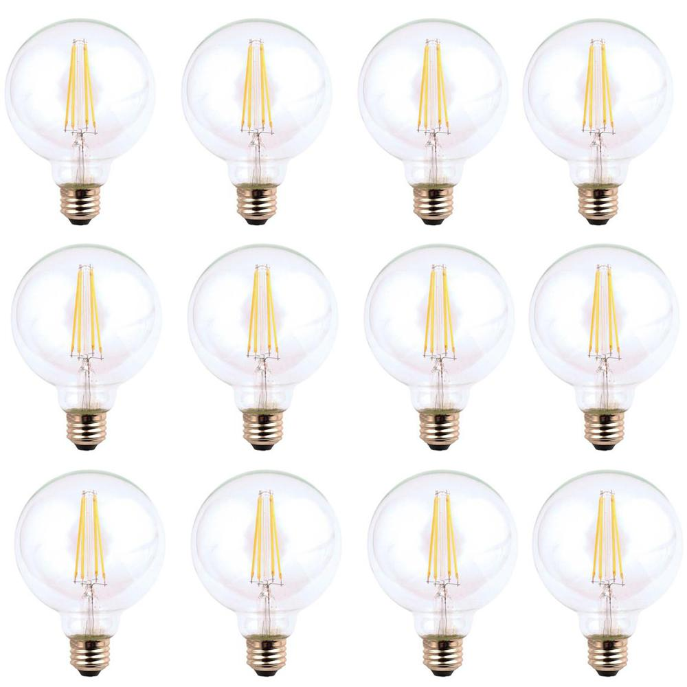 40-Watt Equivalent G25 Dimmable Energy Star Clear Filament Vintage Style LED
