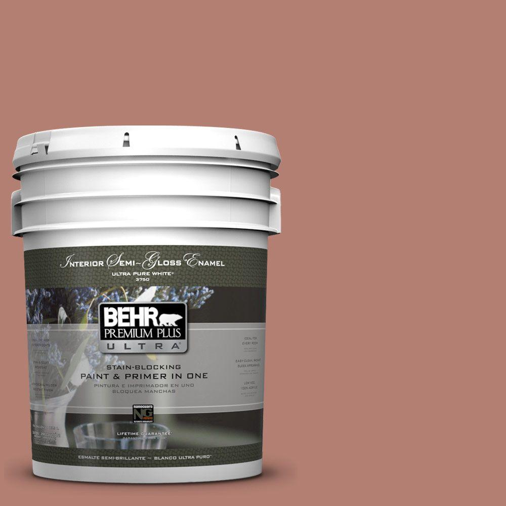 BEHR Premium Plus Ultra 5-gal. #ICC-102 Copper Pot Semi-Gloss Enamel Interior Paint