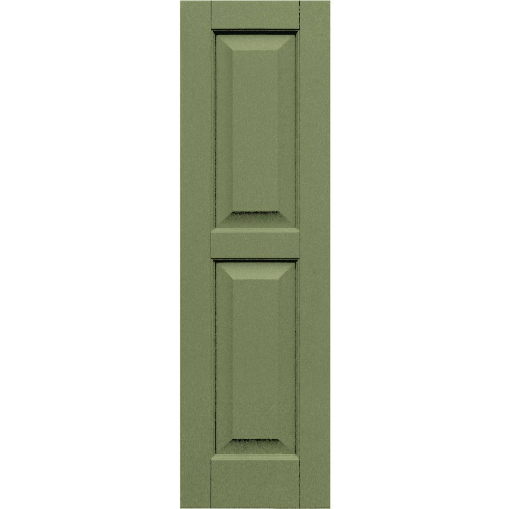 Winworks Wood Composite 12 in. x 41 in. Raised Panel Shutters Pair #660 Weathered Shingle