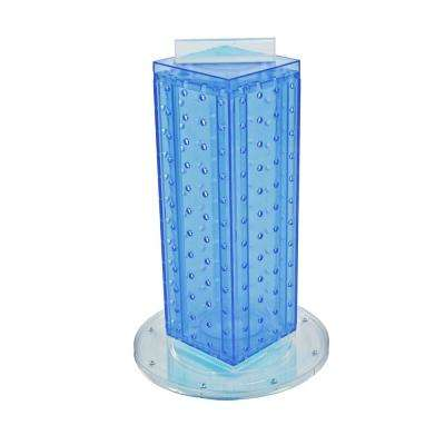 12 in. H x 4 in. W Pegboard Tower with 16-Gift Pockets in Blue