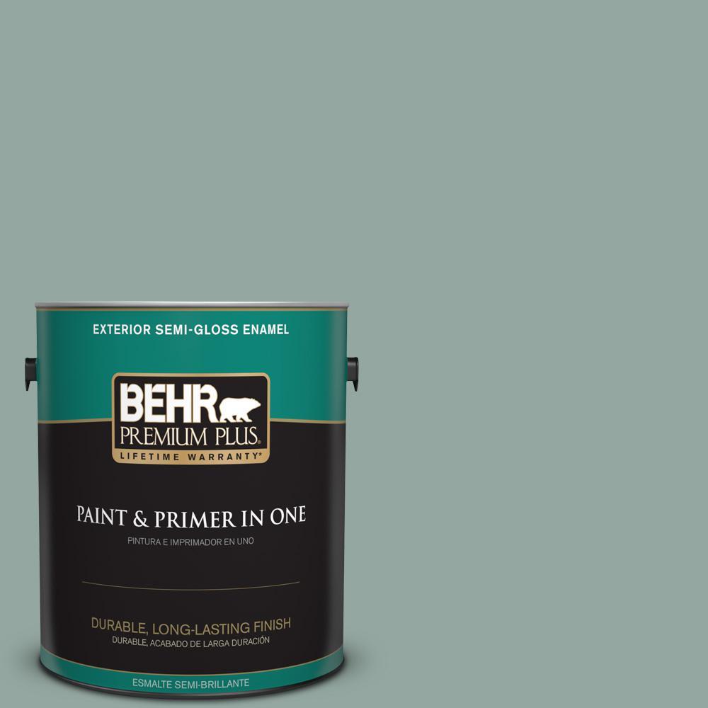 1 gal. #PPU12-05 Lotus Leaf Semi-Gloss Enamel Exterior Paint