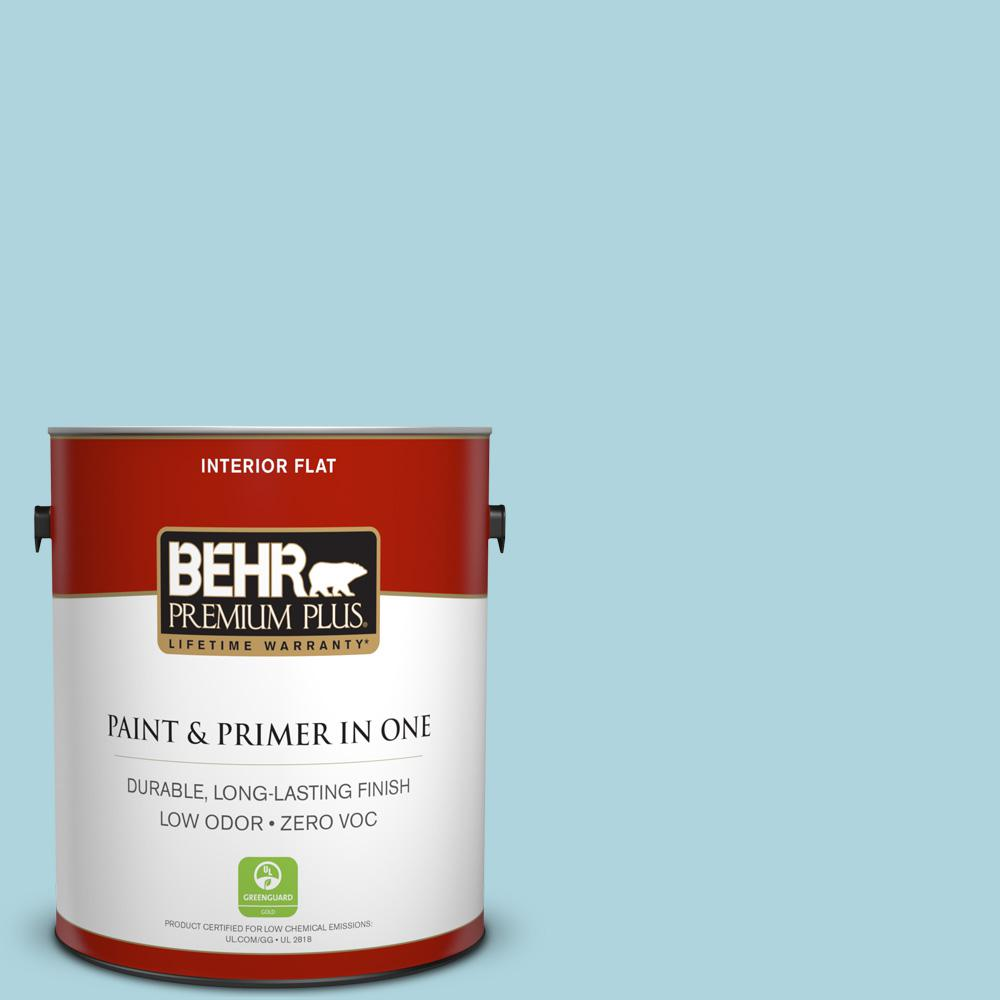 BEHR Premium Plus 1-gal. #520E-2 Tropical Breeze Zero VOC Flat Interior Paint