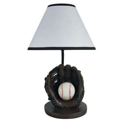 15 in. Baseball Brown Accent Lamp