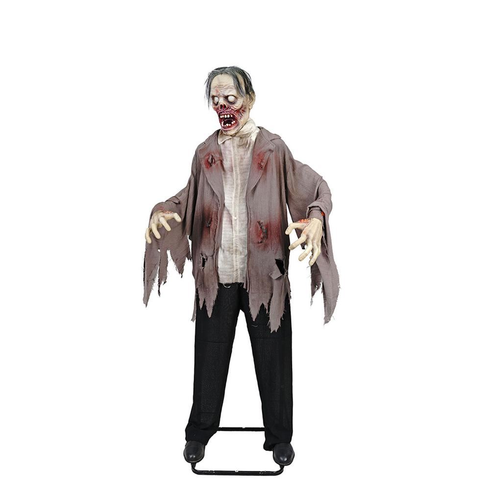 72 in. halloween kd zombie with led eyes-8330-72992hd - the home depot