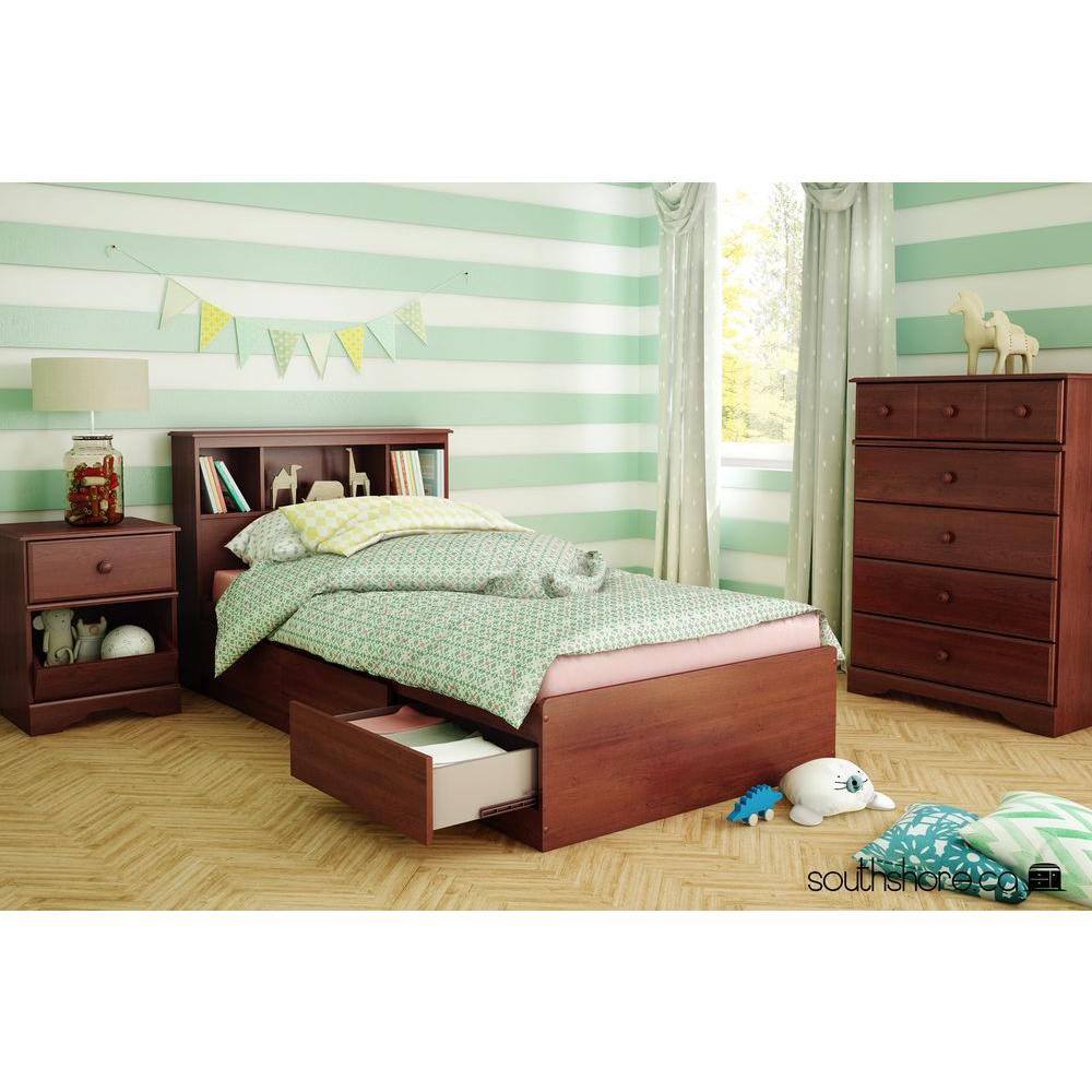 South Shore Little Treasures Royal Cherry Twin-Size  sc 1 st  Home Depot & South Shore Little Treasures Royal Cherry Twin-Size-3846A1 - The ...