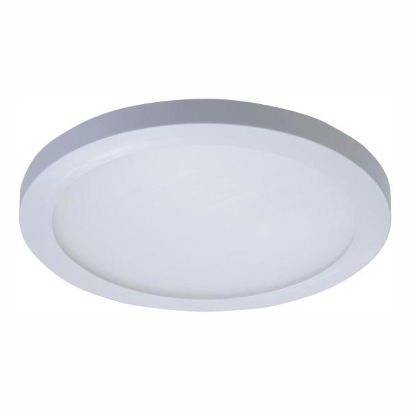 Halo 5 In And 6 In 4000k White Integrated Led Recessed Round Surface Mount Ceiling Light Trim At Cool White Smd6r6940wh The Home Depot
