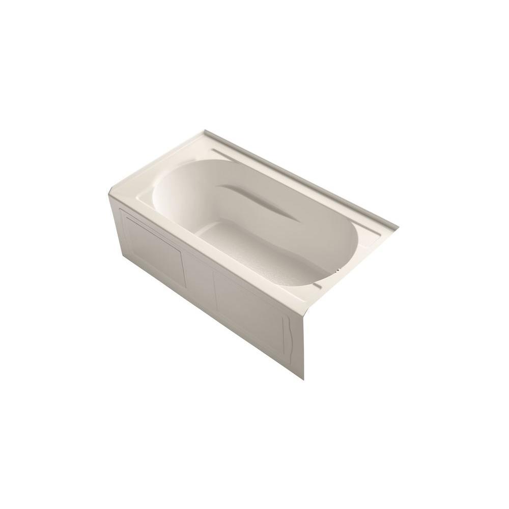 KOHLER Devonshire VibrAcoustic 5 ft. Right Drain Soaking Tub in Innocent Blush-DISCONTINUED