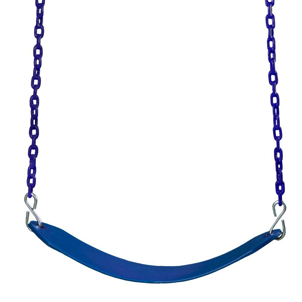 Gorilla Playsets Swing Belt with Chain in Blue