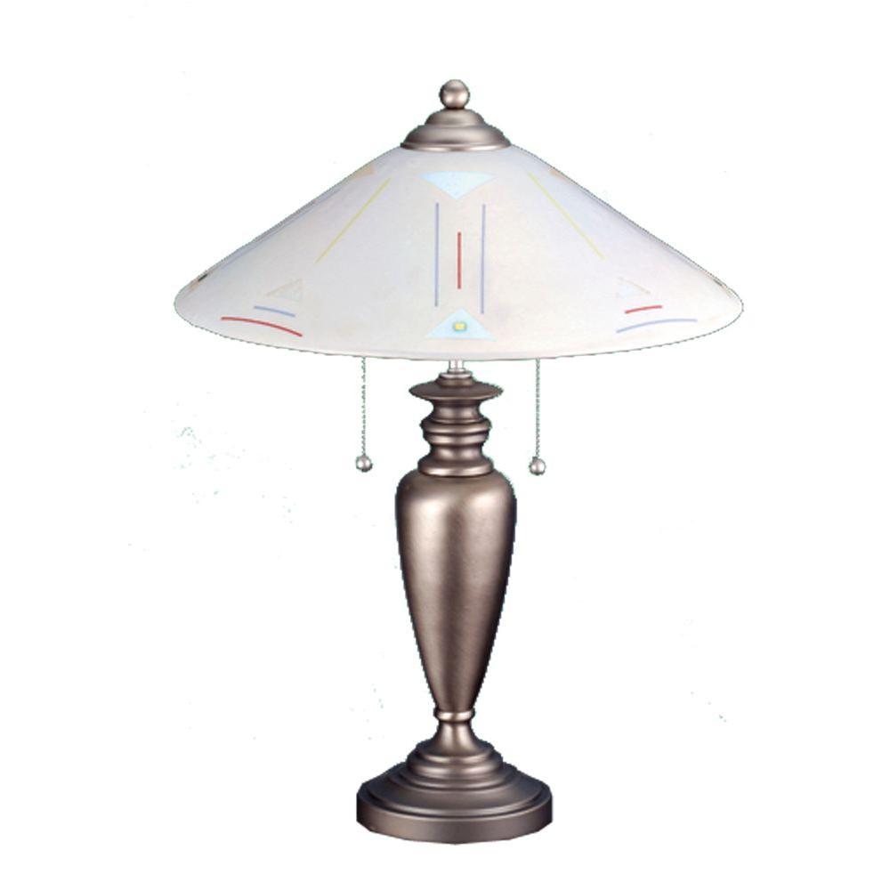Illumine 2 Light Saturn Fused Glass Table Lamp