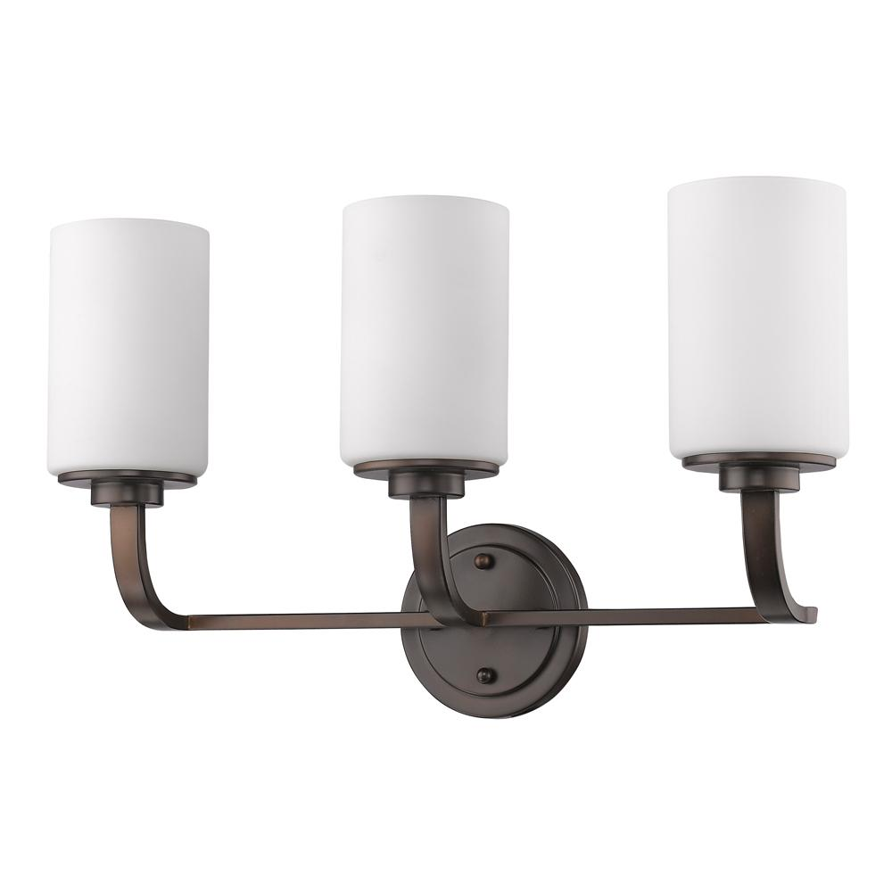 Acclaim Lighting Addison 3-Light Oil-Rubbed Bronze Vanity Light with Etched Glass Shades