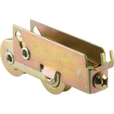 1-1/8 in. Stainless Steel Sliding Door Tandem Roller Assembly, 11/16 in. x 1-1/16 in. Housing