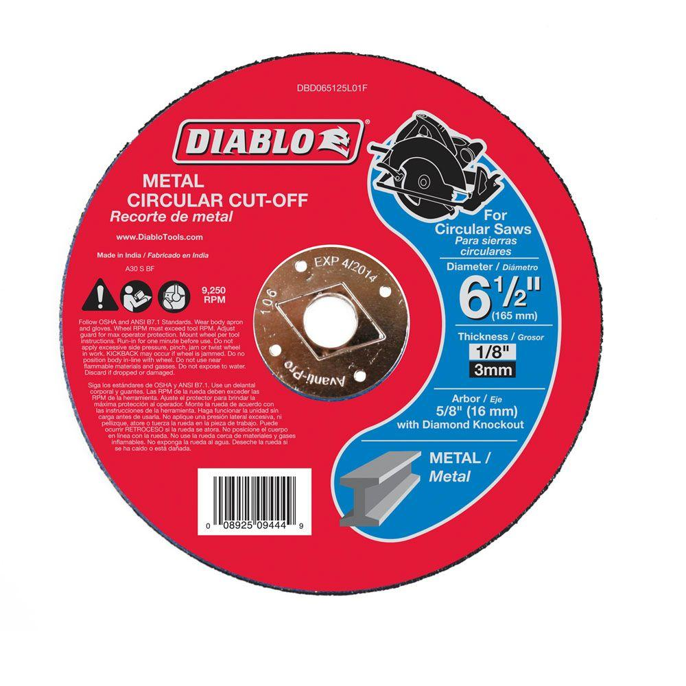 Diablo 6-1/2 in. x 1/8 in. x 5/8 in. Metal Cut-Off Disc