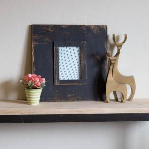 5 inch x 7 inch Black Wood Picture Frame by