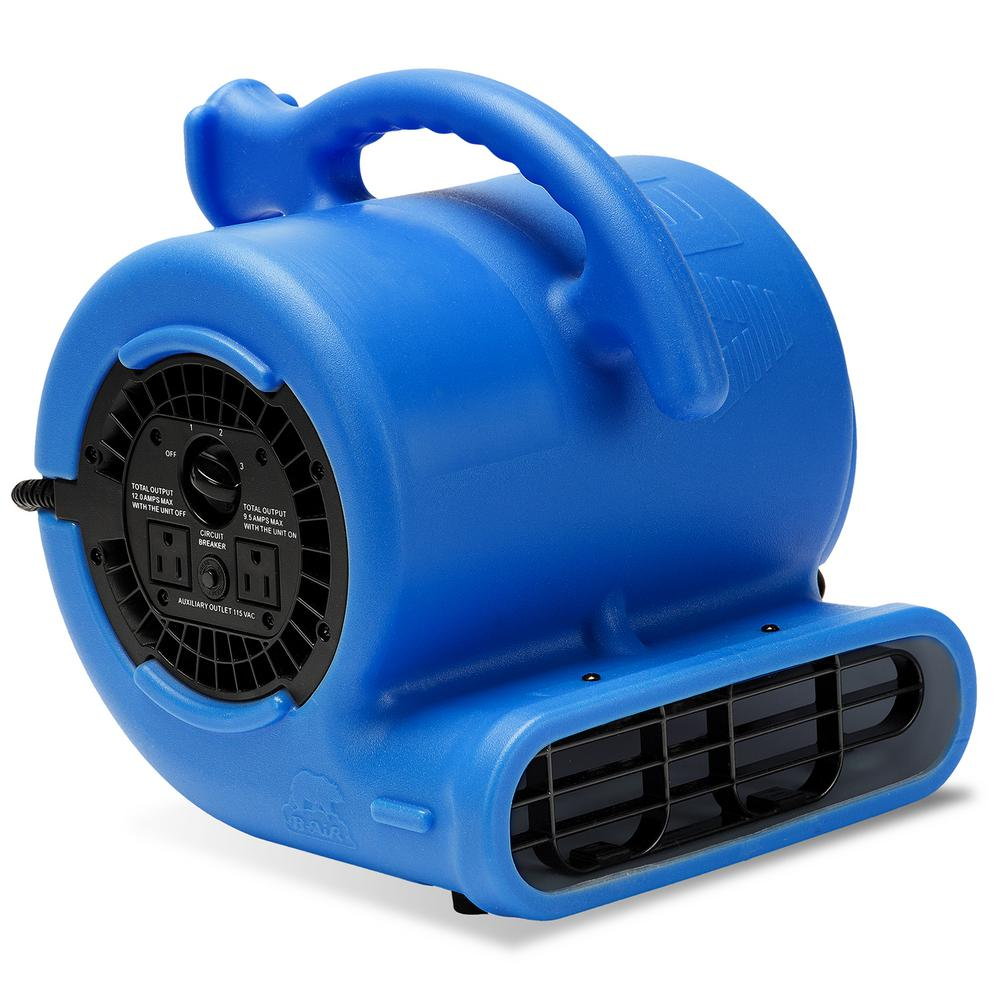 1/4 HP Air Mover Blower Fan for Water Damage Restoration Carpet