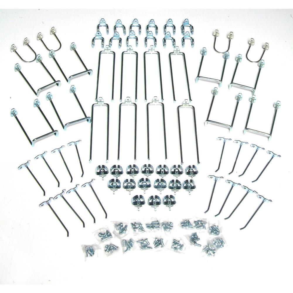 DuraHook 64-Piece Zinc Plated Steel Hook Assortment for DuraBoard