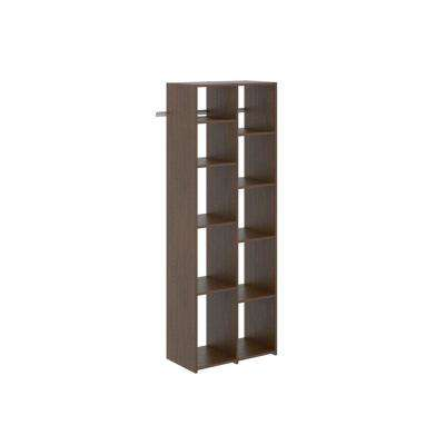 14 in. D x 25.875 in. W x 72 in. H Espresso Wood Adjustable Shoe Tower Closet Kit