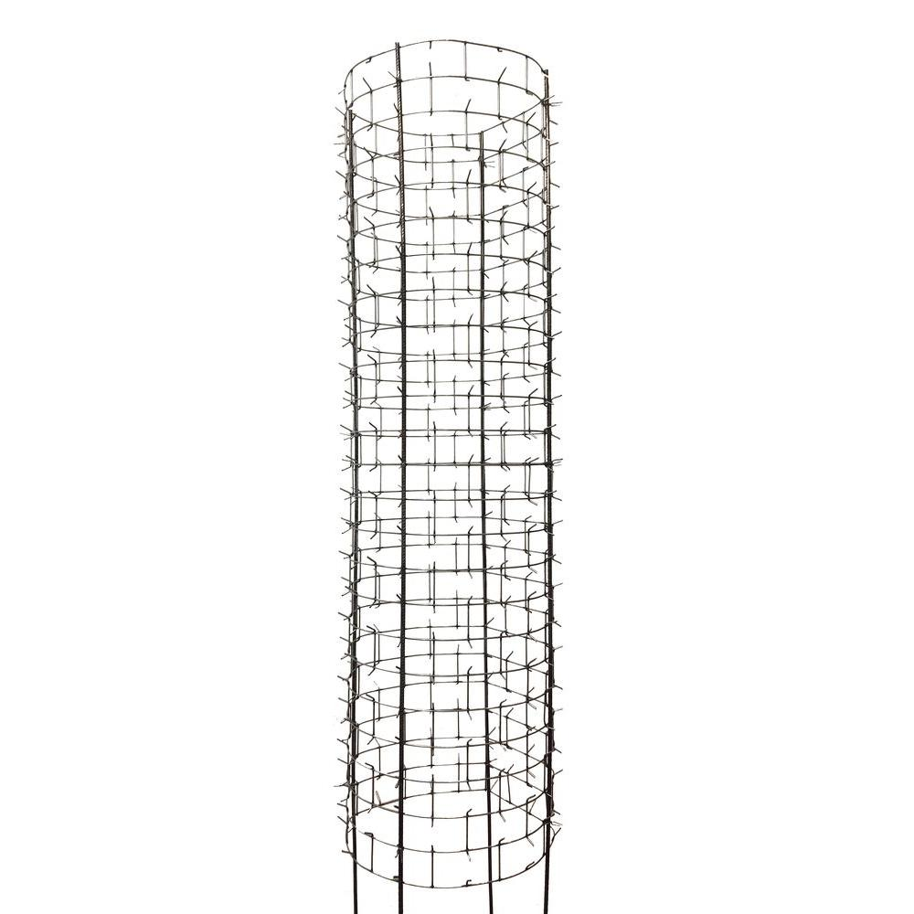 47 in tree protector galvanized steel with rebar set of 4