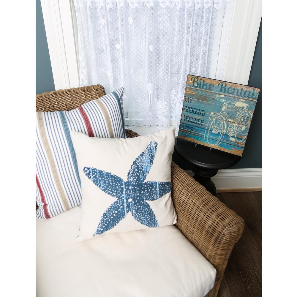 Beach Living Starfish Decorative Pillow